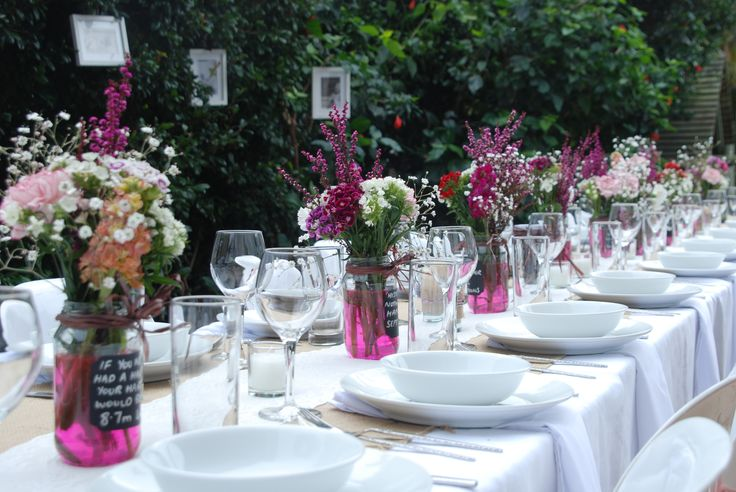 Garden party table decorations table serveware pinterest for Garden table decorations