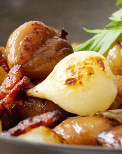 EASY, ELEGANT HOLIDAY SIDE: Sautéed Onions, Chestnuts, and Bacon For ...
