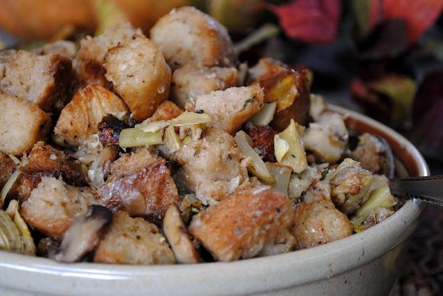 Sourdough Artichoke Parmesan Stuffing | feed me | Pinterest