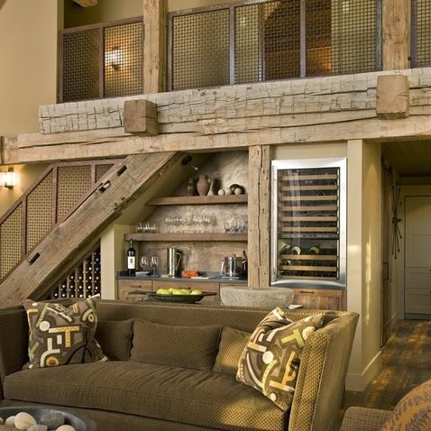 Great Idea Under The Stairs Wine Bar Home Ideas