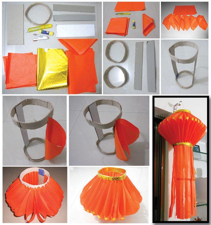 Diwali lantern Paper lanterns and Make paper