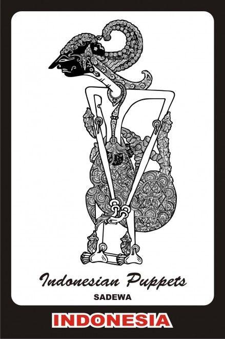 indonesia wayang sadewa indonesian puppets pinterest