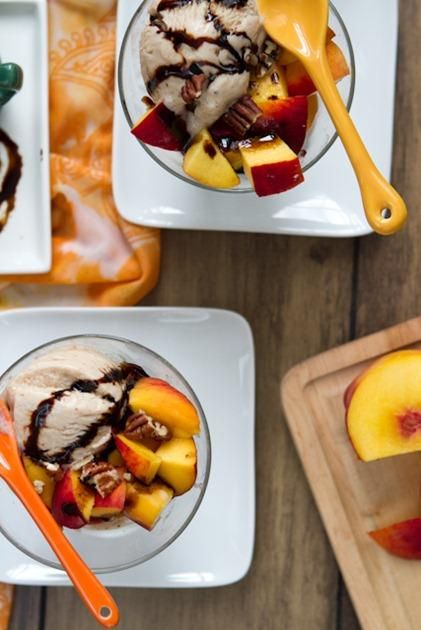 ... Recipe: How To Make A Balsamic Reduction & Peaches & Cream Dessert