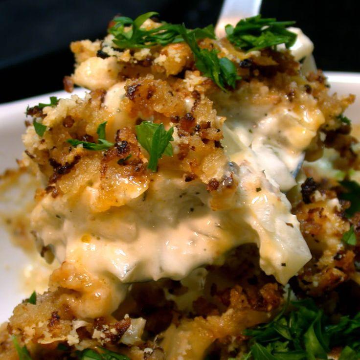 Cauliflower Gratin w/ Tillamook Aged Cheddar, Caramelized Onions ...