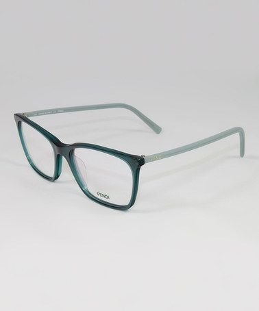 Dark Green Eyeglass Frames : FENDI Translucent Dark Green Square Frame Eyeglasses