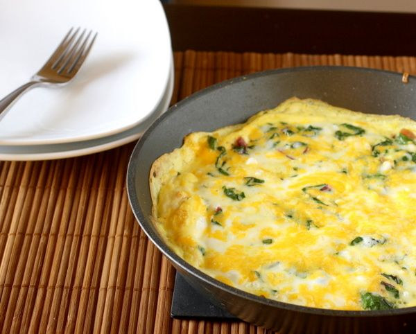 Frittata with Swiss Chard- made this today and it is delicious