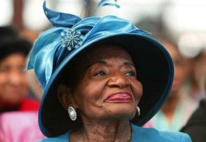 86 Year old, Christine King Farris, sister of Martin Luthur King Jr., smiles as President Barack Obama is sworn in on her brother's bible on this great day in history, Jan 21, 2013.
