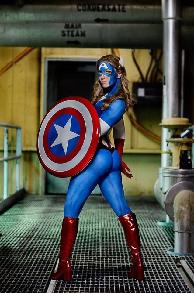 Captain America Girl Body Paint | Hot1 | Pinterest