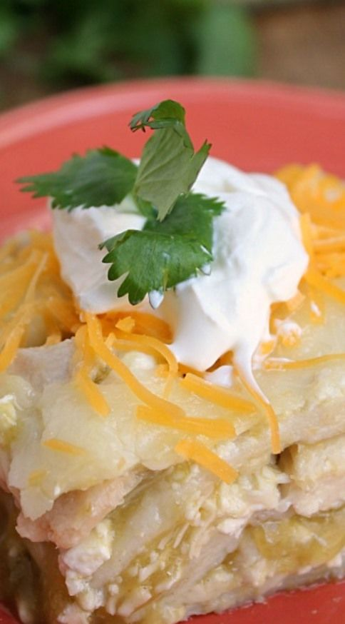 Green Chile Enchilada Casserole - make with Josephs lavash or low carb ...