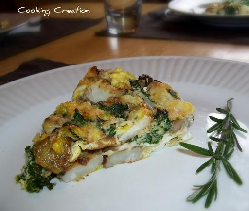Potato and Kale Frittata - Cooking Creation (Celeste Jenkins)