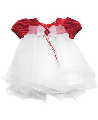 Girls red velvet holiday dress kids baby girl 0 24 months macy s