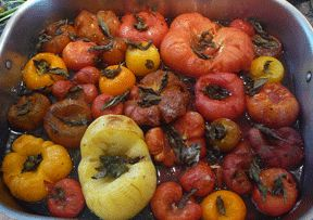 Roasted Heirloom Tomatoes | APPETIZERS | Pinterest