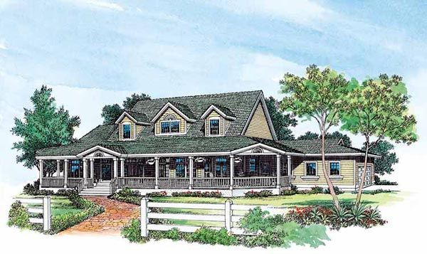 Country Farmhouse House Plan 95064