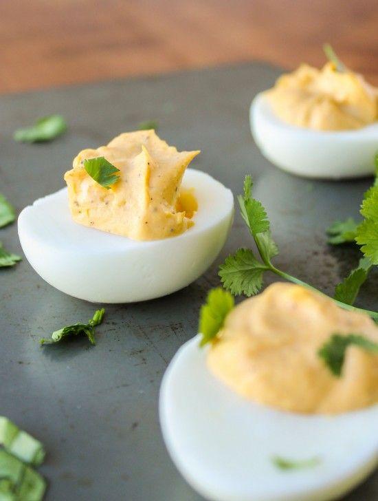 Sriracha Deviled Eggs Recipe — Dishmaps
