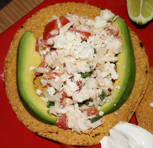 Crab tostada | I'm a foodie! | Pinterest