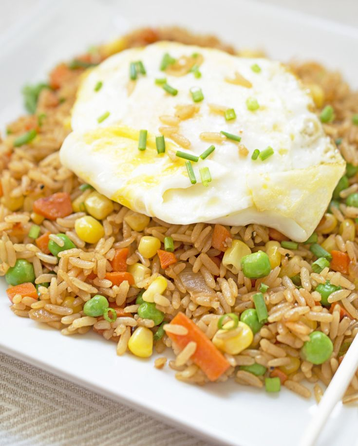 This Vegetable Fried Rice is loaded with vegetables and can be on the ...