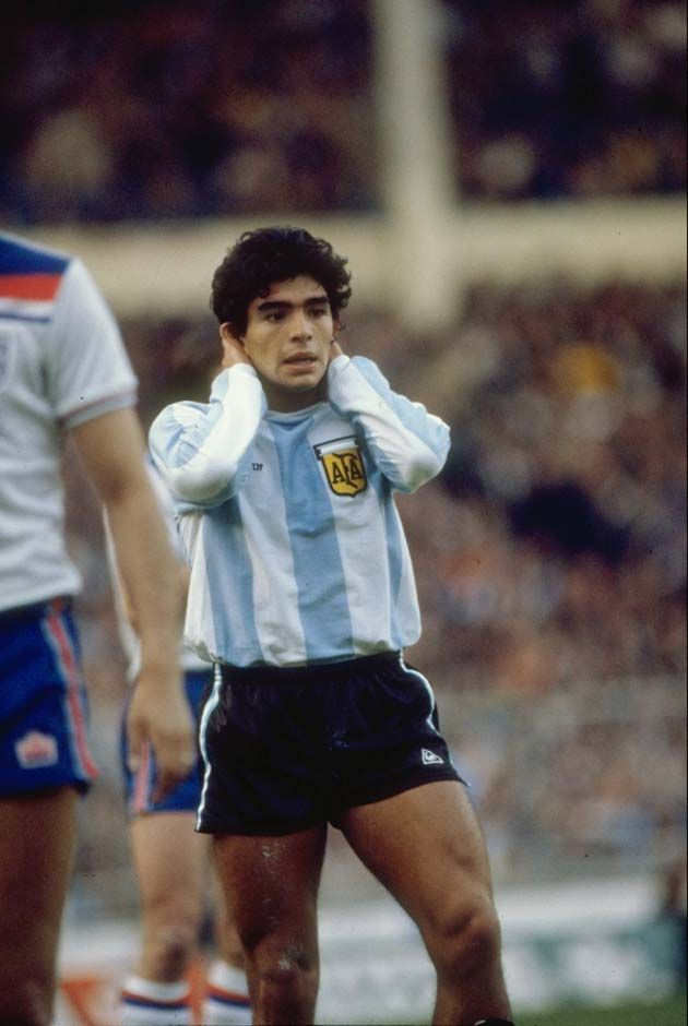 Diego Maradona during his first match against England. Wembley Stadium ...