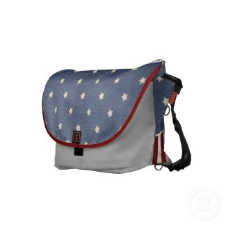 cheap cute purses Patriotic Rickshaw Messenger Bag  Red  White and Blue
