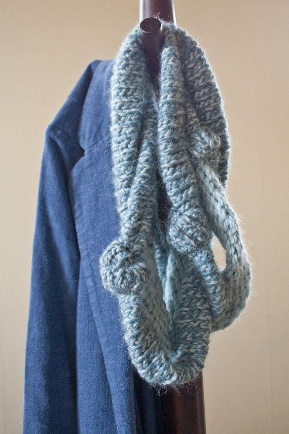Tube Scarf Knitting Pattern : Crochet Scarf Pattern - Infinity Tube Scarf - A Study in Reverse
