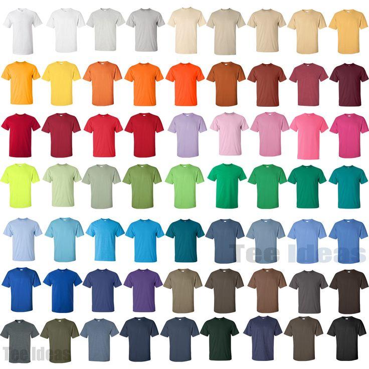 Gildan T Shirt Color Chart 2014