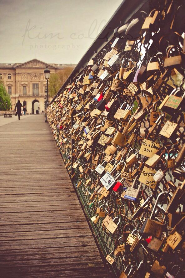 Paris lock bridge girly things pinterest for Locks on the bridge in paris