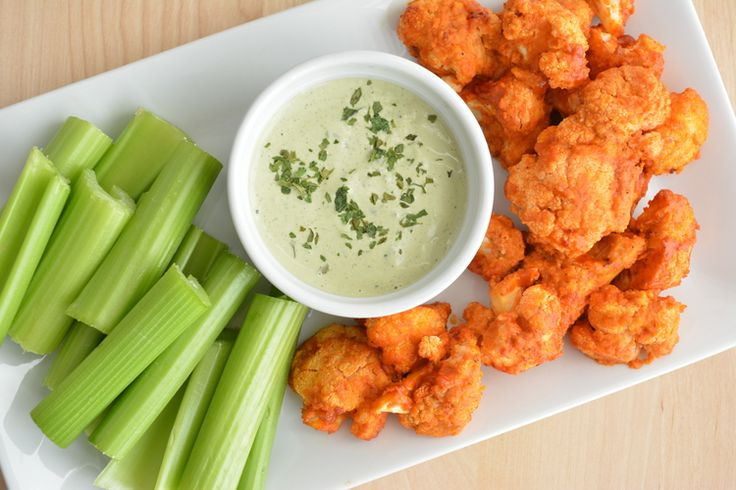 Roasted Buffalo Cauliflower and Homemade Dairy-Free Ranch #ZestandZeal