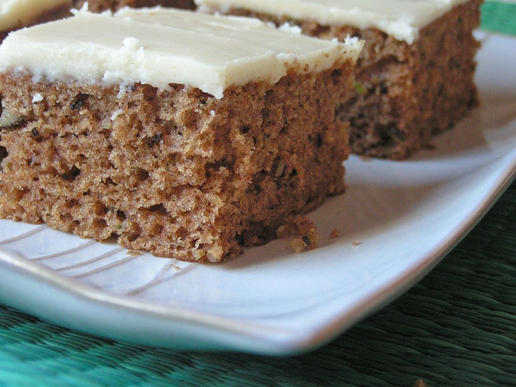 ZUCCHINI SPICE CAKE WITH BROWNED BUTTER FROSTING