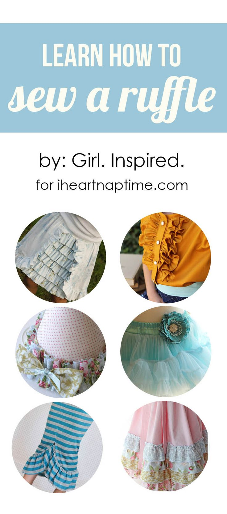 Learn how to sew a ruffle on iheartnaptime.com #sewing #tips