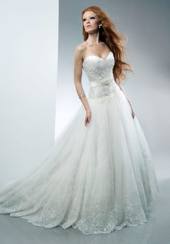 Ariel wedding dress by alfred sung disney princess for Designer disney wedding dresses