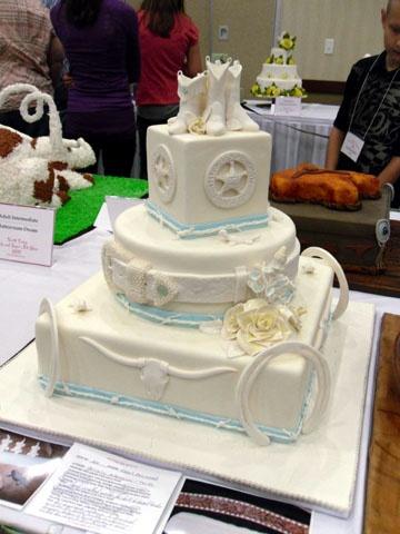 Texas Wedding Cake My Fondant Cake Designs Pinterest