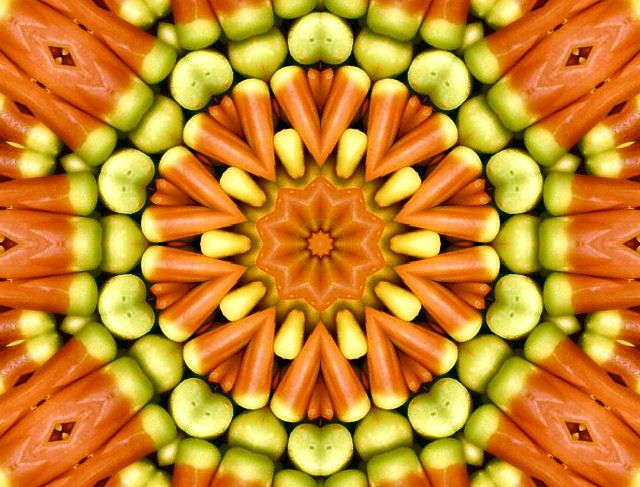 candy corn | Vonnie's Computer Art: Kaleidoscopes: Colorful Candy | P ...