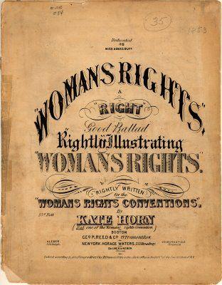 Woman's Rights Ballad