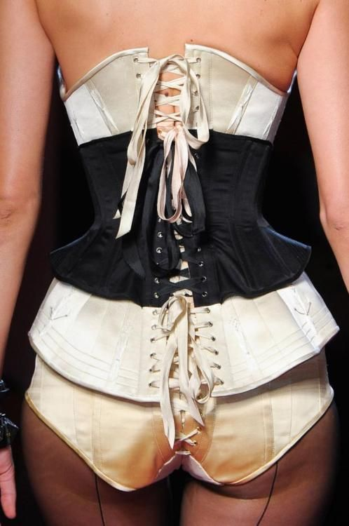 Morgane Dubled on the runway of Jean Paul Gaultier HC Spring 2012