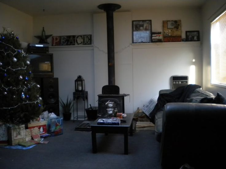 My old living room during christmas for Something living room 94