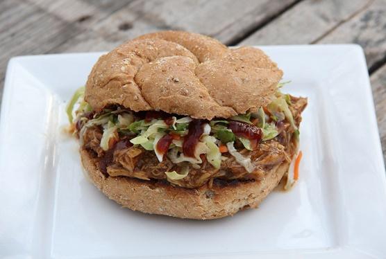 BBQ Chicken Sandwiches with Slaw | Sandwiches | Pinterest