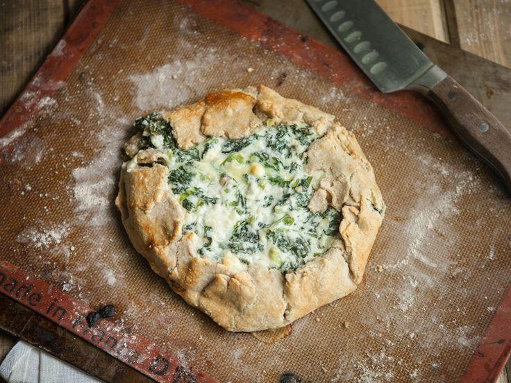 Kale and Feta Galette | Dinner or Lunch | Pinterest