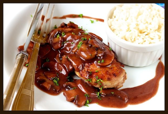 Chicken with Port and Mushroom Sauce | F**D P*RN | Pinterest