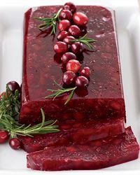 Jellied cranberry sauce w/ apples.   Very pretty!