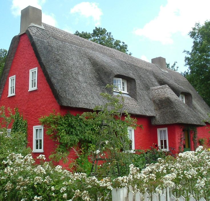 Little ruby red cottage on pinterest red and white for Red cottage