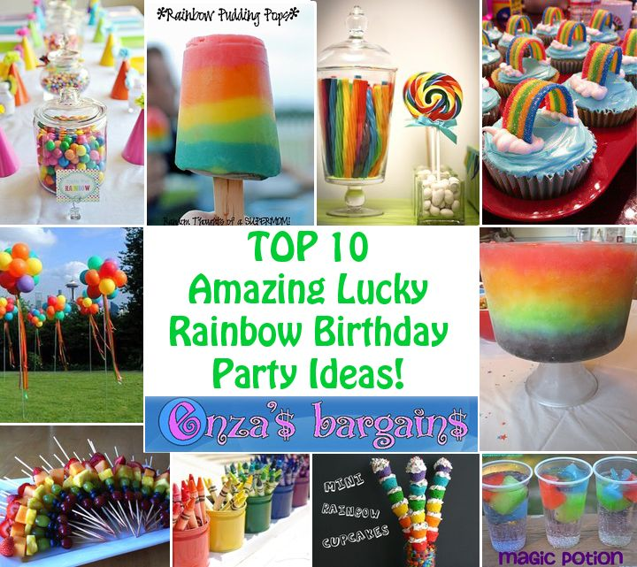 Top 10 Amazing Lucky Rainbow Birthday Party Ideas! Tabitha has become OBSESSED with the idea of having a rainbow birthday party.