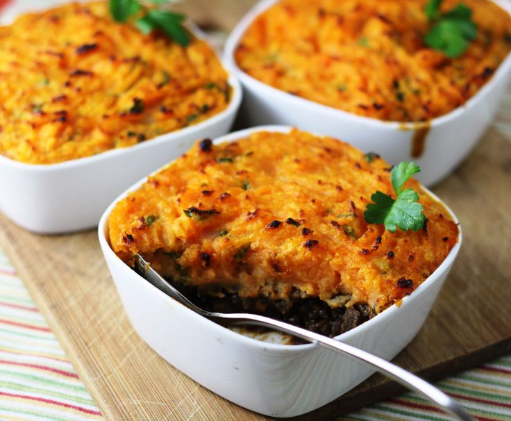 Lentil, Mushroom & Sweet Potato Shepherd's Pie Recipes — Dishmaps