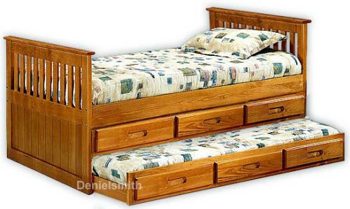 Bookcase Headboard Captains Bed Youth Furniture Plans