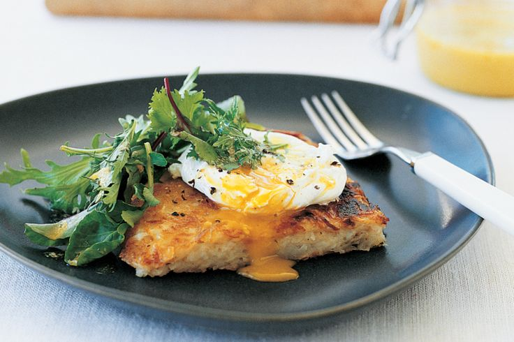 Potato Galette With Poached Egg And Salad (vegetarian) Recipe - Taste ...