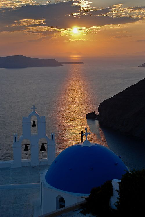 Sunset, Santorini, Greece by Chris