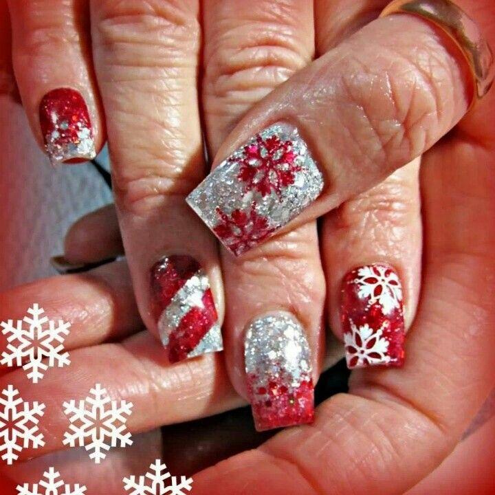 Christmas acrylic nails | Nails nails nails | Pinterest