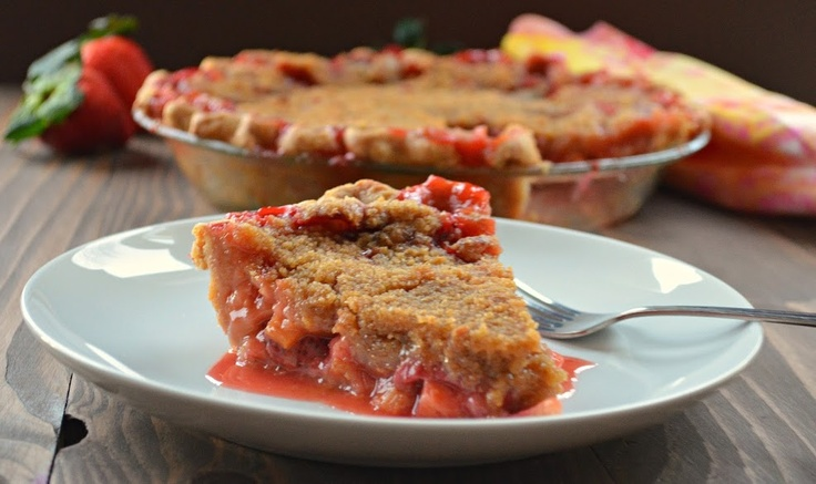 Strawberry Rhubarb Pie With Ginger Crumb Topping Recipe — Dishmaps