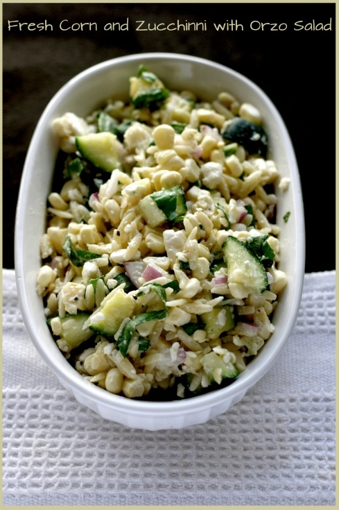 Corn and Orzo salad - change lemon juice to lime and and zuchinni into ...