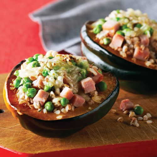 Ham & Swiss–Stuffed Acorn Squash A throwback to the ham and pea ...