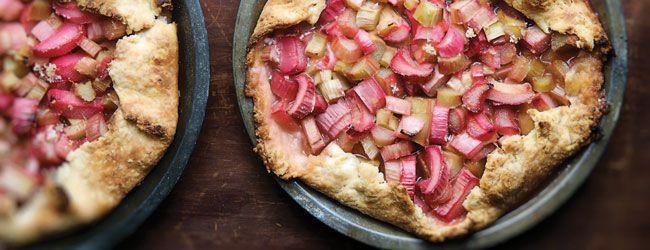 Rhubarb-Sour Cream Crostata Pie | Rhubarb | Pinterest
