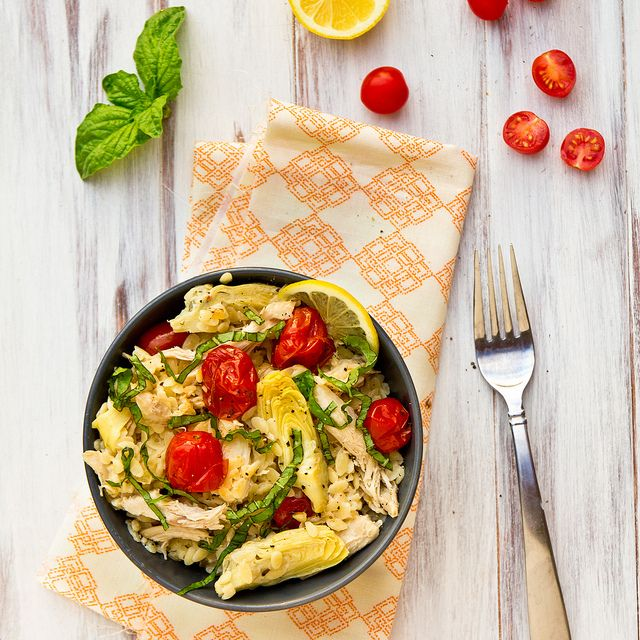 Stuffed Tomatoes With Herbed Chicken & Orzo Salad Recipes — Dishmaps